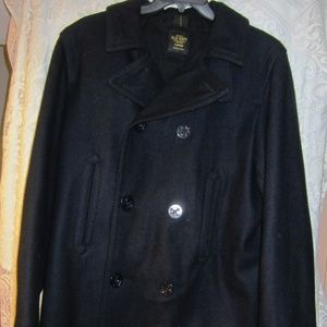 Old Navy Dark Blue Double Breasted Pea Coat size L